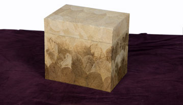 Cuboid shaped biodegradable earth urn