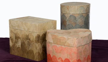 A selection of Biodegradable Earth Urns