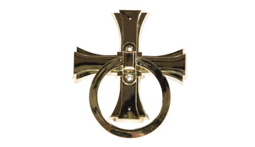 Maltese Cross Ring Handle brass