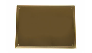 Brass coffin plate