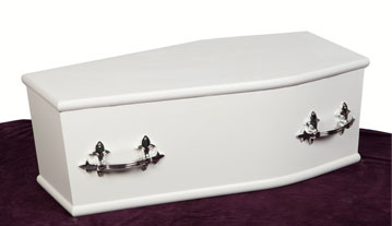 Traditional coffin shaped sprayed with...