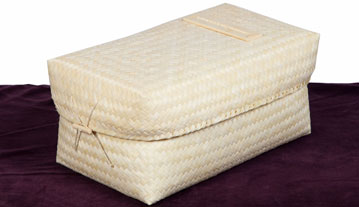 Woven bamboo child's casket