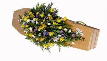 Double-ended coffin spray (Spring Flowers)
